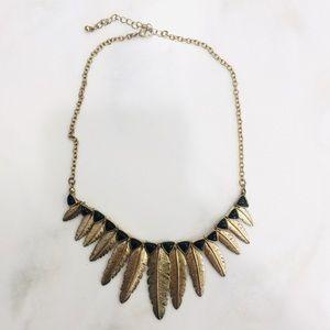 Vintage Antique Collar Choker Feather Necklace